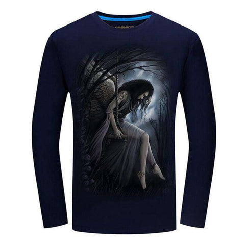 3D printed t-shirts Night Angel Long sleeve