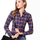 Women Plaid Casual Shirts Long Sleeve