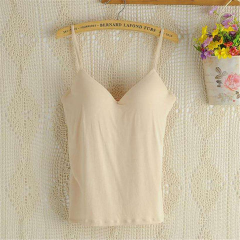 Cup In Bra Strappy Tank Top