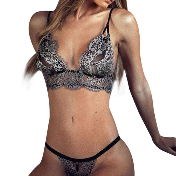 Bra G-string Set of Bralette Thongs Stretch Brief
