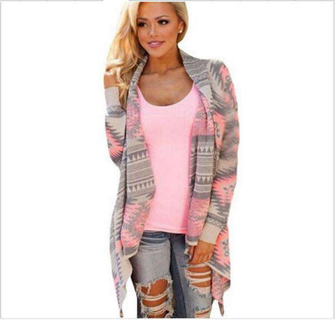 Irregular Women long Sleeve Cardigan