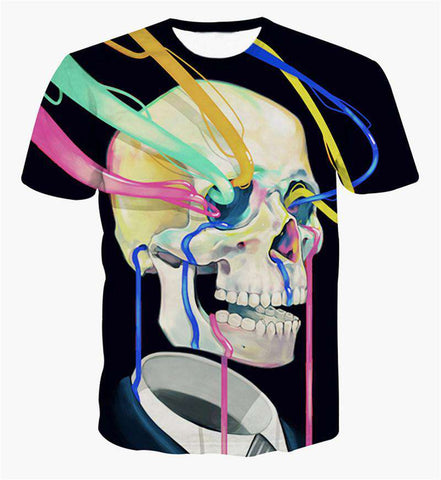 men 3d graphics t shirt Tie-dye painting tee shirt
