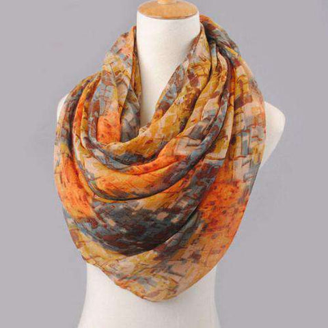 Mixed Color Pattern Voile Shawl Wrap Scarves