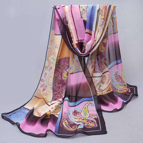 scarf long design air conditioning cape silk scarves shawl women