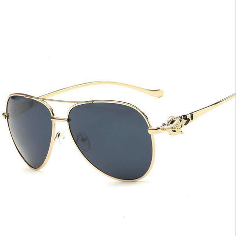 Diamond Metal Fox Shape Sunglasses for Women