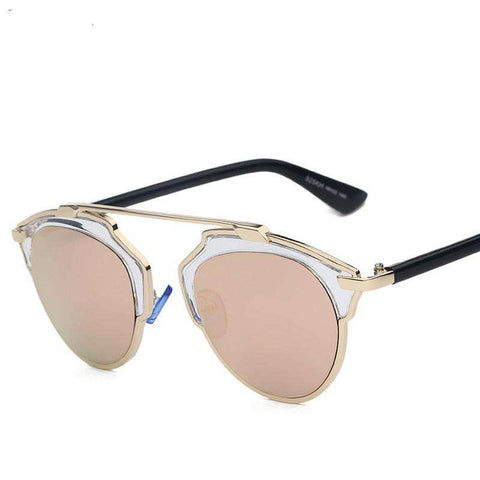 Gold Metal Sunglasses Women Original
