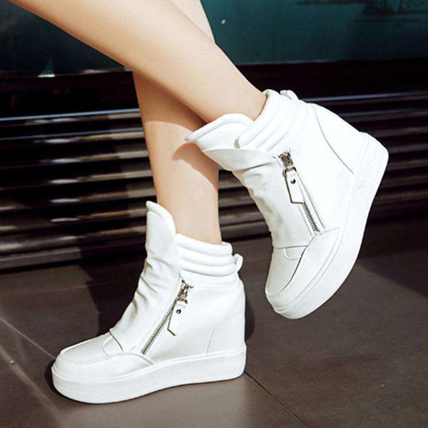 Casual Women Shoes Hide Heel Double sneaker