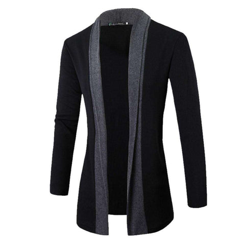Jacket Men coat wool long Sleeve Slim Lapel Collar