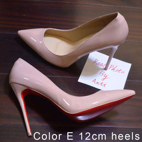 1100411f44b ... Women Pumps Spike Red Bottom Shoes High Heels