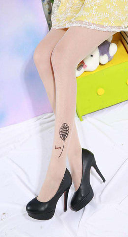 Sexy Women Fashion High Tattoo Tights