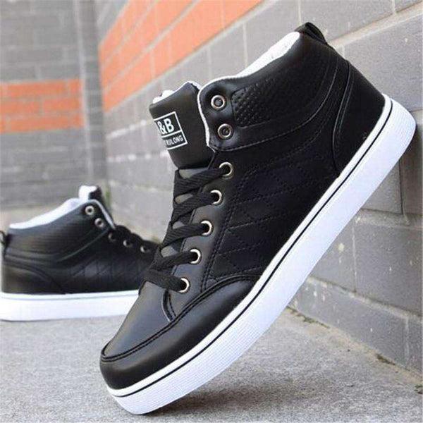 Casual Men Sneaker Shoes High Top PU Leather Sneaker