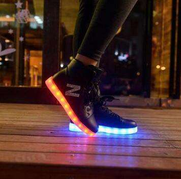 LED Lace Up Women Sneakers