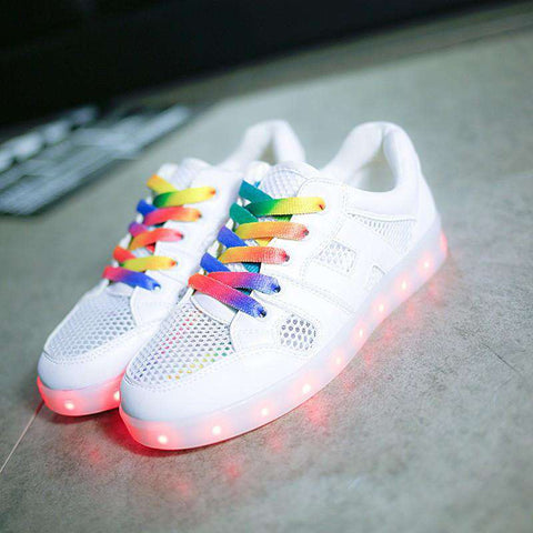 Led Sneakers Girl Light Up Glowing