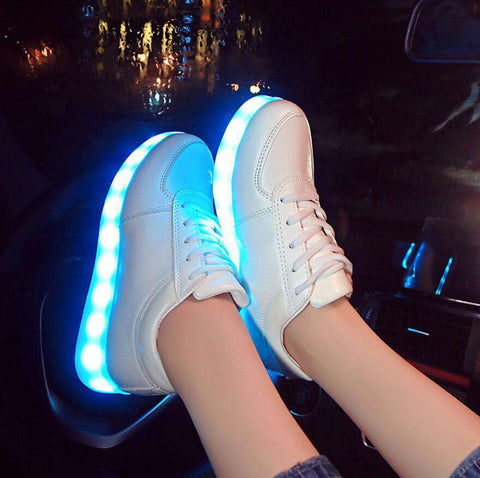 HOT LED Shoes Multicolor USB Charging Lights Shoes Unisex