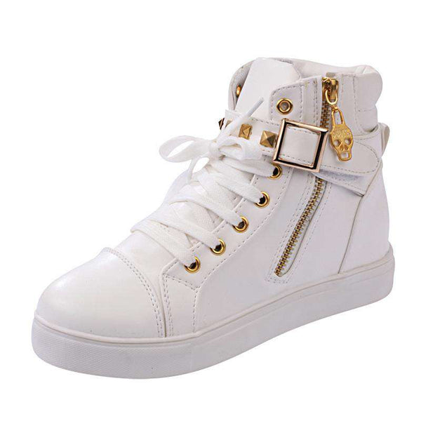 Casual Womens Lace Up Printing Canvas Sport  led shoes