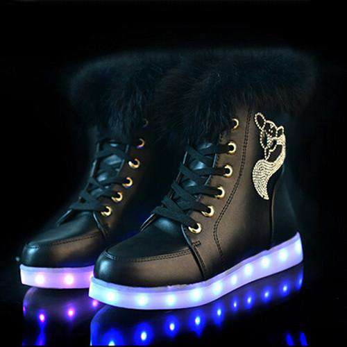 Colorful LED Light Women Boots
