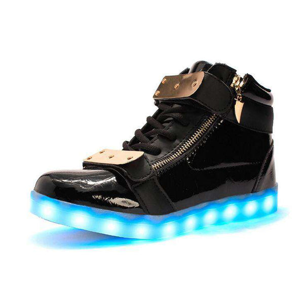 Children lights up LED luminous shoes high