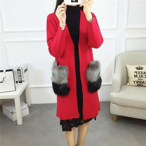 Cardigan Trench Autumn Winter Women Long