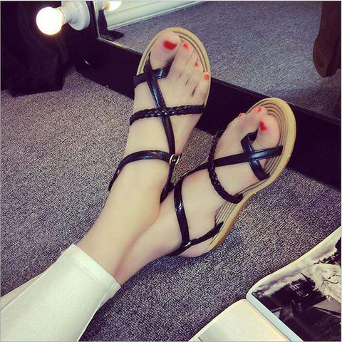flat Roman sandals woman casual