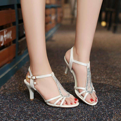 New Medium Heel Sandals Women