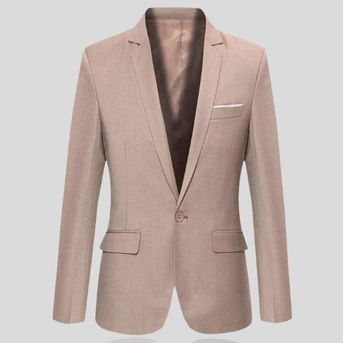 Blazer Slim Fit Casual Cotton Men