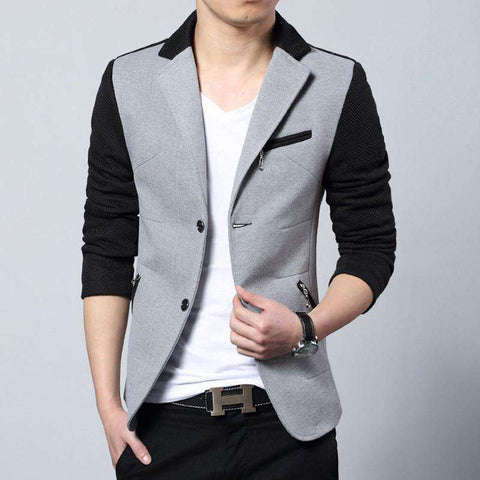Casual Cotton Slim Fit Suit Men Blazer