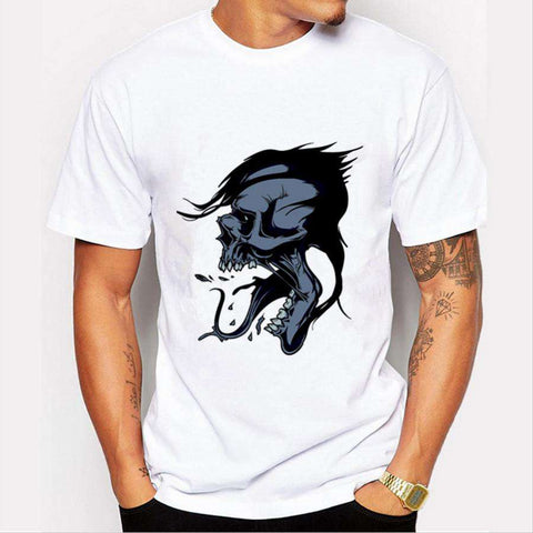 Brand 3D Cute Man Round Neck Short Sleeve