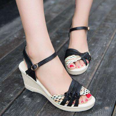 female sandals high platform wedges