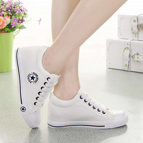 Basket Wedges Women Canvas Shoes