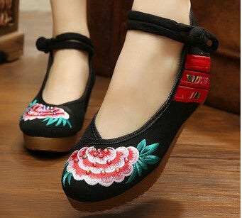 Embroidered Casual Shoes Women wedges