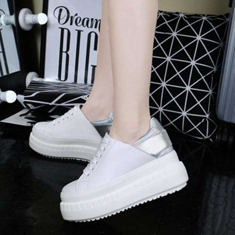 Casual Breathable Lace-Up New Wedges Shoes