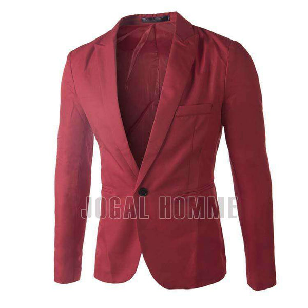 Blazers Men slim fit formal Suit Solid One Button