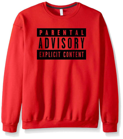 Casual Parental Advisory Sweatshirt for Men