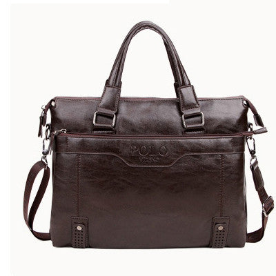Genuine Leather Shoulder Bag Handbag Men