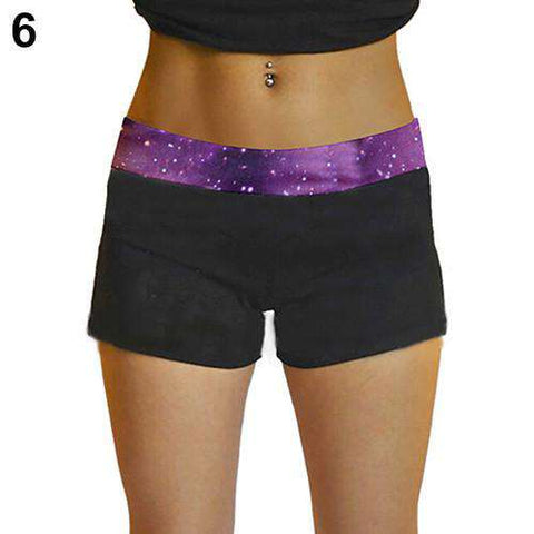 Women's Sexy Mini Knockout Exercise  Workout Fitted Shorts