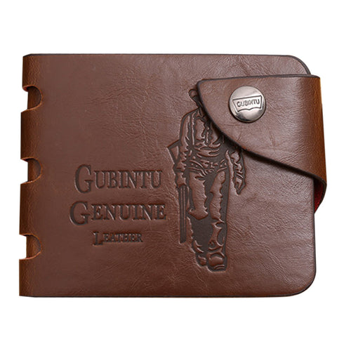 Vintage And Casual Men's PU Leather Wallet Hasp Bags