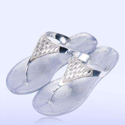 Crystal Flip-Flop Slippers Jelly Beach Sandals