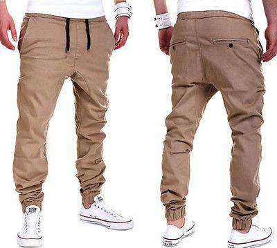 Male Casual Solid Pants Sweatpants