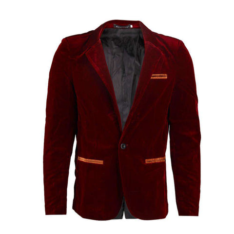 Corduroy Slim Fit Clothing Casual Cuit Single Button Breasted men blazer