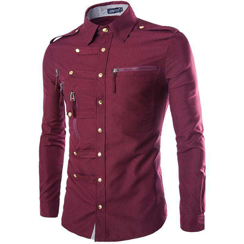 Fashion Brand Casual Style Personality Wave Man Shirts