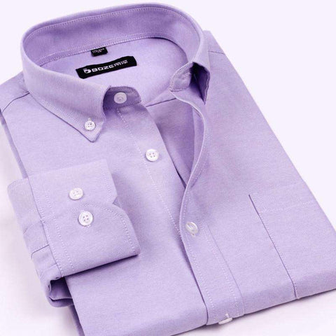 Button-Down Long Sleeve Formal Dress Shirts For Men