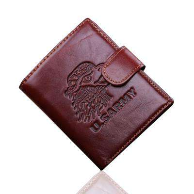 Leather Wallet Cowhide Genuine Men