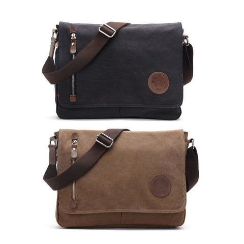 Vintage Men's Messenger Bags Canvas