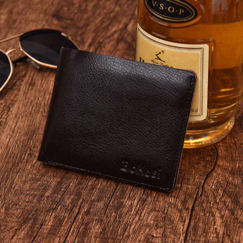 Men's Wallet Leather Purse Short Design Bags