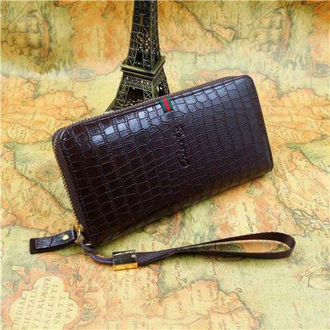 Men's Zipper Wallets Wholesale Leather Clutch Bag Purse