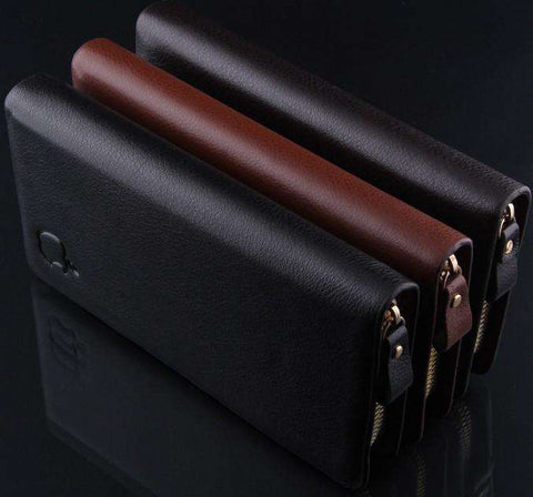 Wallet Clutch Carteira Money Bags For Men Black Coffee Purse