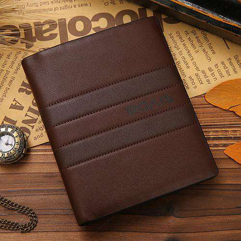 Men's Short Fashion Leather Wallets Business