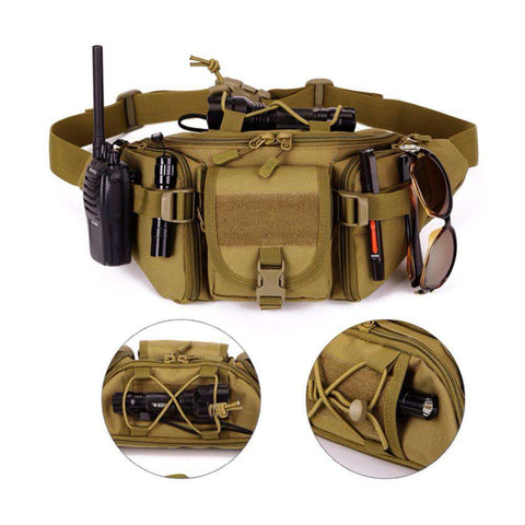 Hip Pack Tactical Waist Packs Water Resistant Waist Bag Unisex