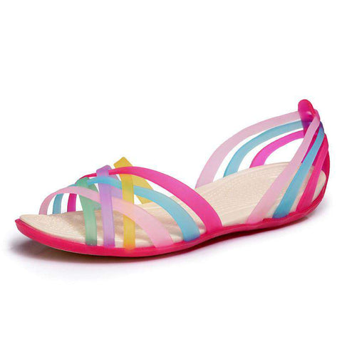 Sandals Beach Valentine Rainbow Jelly Shoes Woman