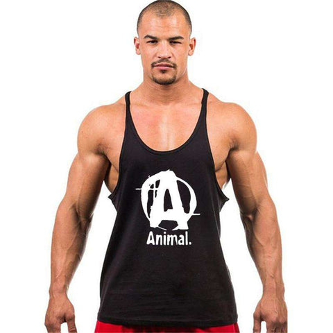 men 7 colors bodybuilding stringer tank tops fitness singlets